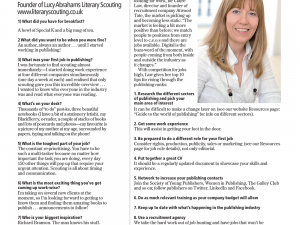 Bookseller 10 Questions with Lucy